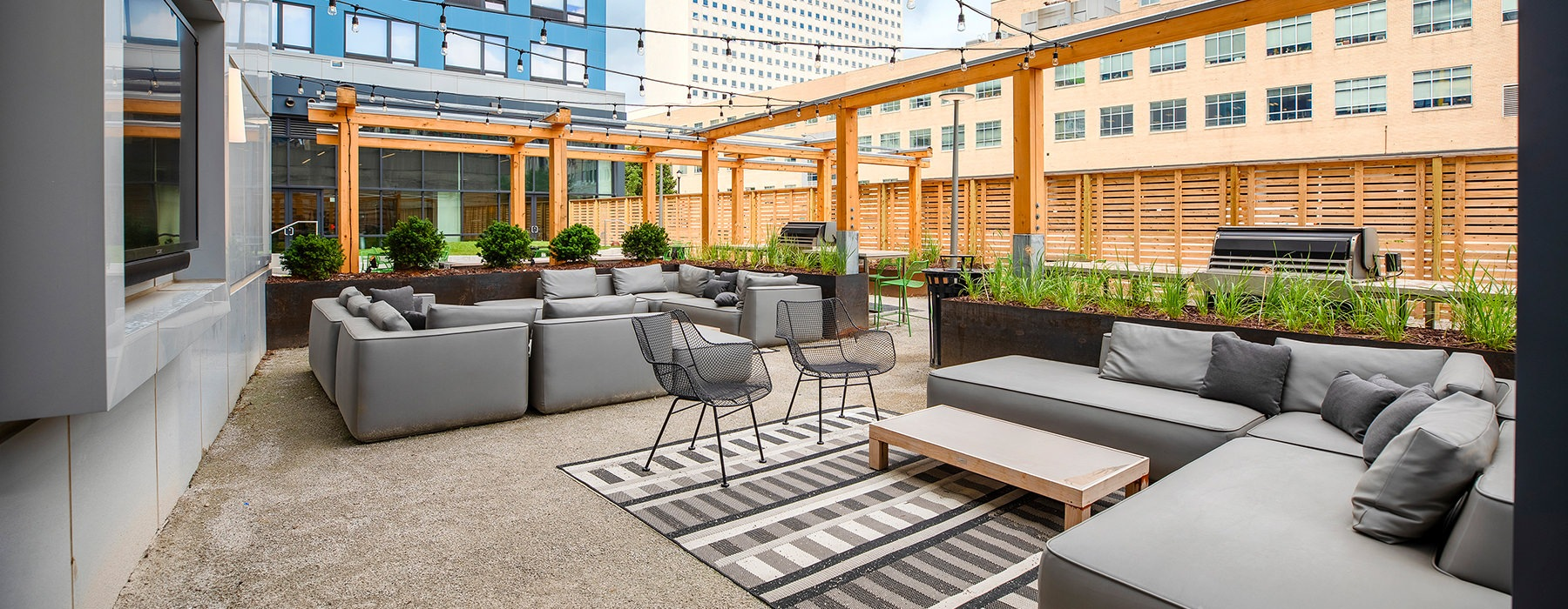 Outdoor Community Space with lounge seating