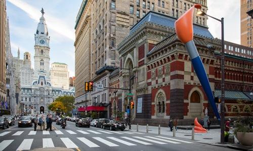 Philadelphia street in downtown